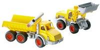 Констрак трёхосный автомобиль самосвал + констрак трактор-погрузчик, Полесье
