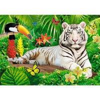 """Пазлы """"в мире животных. белый тигр"""", 35 элементов, Канц-Эксмо (Listoff, Unnika Land)"""