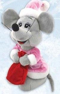 "Игрушка ""мышонок с мешком"", Mister Christmas"