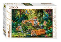 "Пазл ""в джунглях. тигры"", 2000 элементов, Step Puzzle (Степ Пазл)"