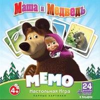 """Настольная игра """"маша и медведь. мемо"""", Astrel"""
