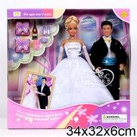 Набор из двух кукол (жених и невеста), с аксессуарами, Defa