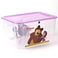 """Ящик для игрушек """"маша и медведь"""", Бытпласт"""