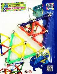 Магнитный конструктор, 30 элементов, Пирамида открытий (Kribly Boo)