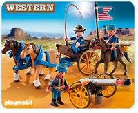 Повозка с солдатами и пушкой, Playmobil (Плэймобил)