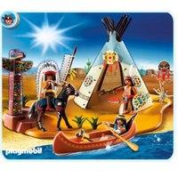"""Супер набор """"лагерь индейцев"""", Playmobil (Плэймобил)"""