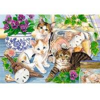 Пазлы 250 элементов «в мире животных. кошки на окошке», Канц-Эксмо (Listoff, Unnika Land)