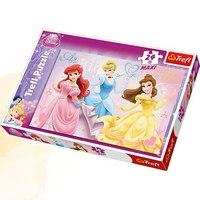 """Пазл """"радостные принцессы"""", 24 детали макси, Trefl"""