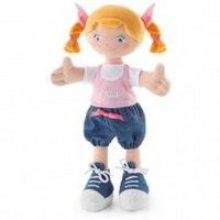 """Мягкая кукла """"девочка с косичками"""", 30 см, Trudi"""