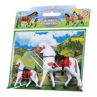 Набор из двух лошадей с аксессуарами, Играем вместе