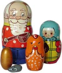"""Матрешка """"курочка ряба"""" (5 персон), Русские народные игрушки"""