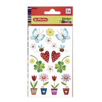 """Наклейки декоративные с мотивом """"бабочки и цветочки"""", 3 листа, Herlitz"""