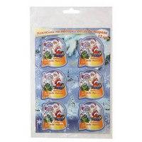 Наклейки на подарки от деда мороза, 12 наклеек, Koh-I-Noor