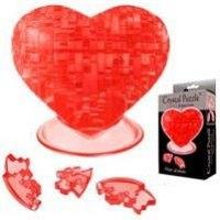"Головоломка ""сердце красное"", Crystal Puzzle"