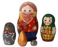 """Матрешка """"курочка ряба"""", 5 персон, Русские народные игрушки"""