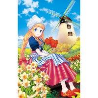 """Пазл """"волшебный мир. девочка с тюльпанами"""", 15 элементов, Канц-Эксмо (Listoff, Unnika Land)"""