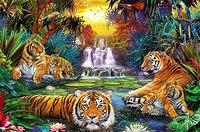 """Пазл """"тигры у воды"""" (3000 элементов), Ravensburger"""