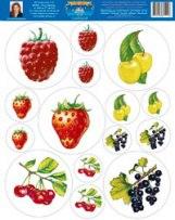 Наклейки для маркировки мебели. ягоды-1. для младшего и среднего дошкольного возраста, Страна Фантазий