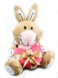 """Мягкая игрушка """"зайчик с сердцем"""", 14 см, Fluffy Family"""