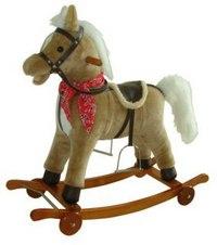 Лошадка-качалка на колесах (78 см), Shantou Gepai