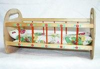 Кроватка для кукол, деревянная, Деревянные игрушки - Владимир