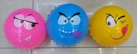 """Мяч """"смайлики"""", с массажной стороной (20 см), Shantou Gepai"""