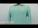 Вязание спицами пуловера Урок 55 часть 2 из 3 How To Knit Pullover Tutorial