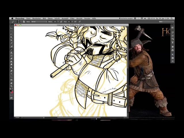 Watch me draw Bofur from The Hobbit