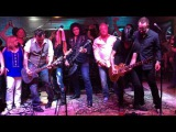 Gene Simmons, Johnny Depp, Gilby Clarke, performing LIVE Rock&amp Roll All Nite