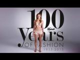 100 лет женской моды за 2 минуты с 1915 и до 2015 | 100 Years of Fashion Under 2 Minutes