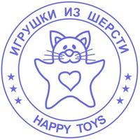 """Логотип """"Happy Toys"""" игрушки из 100 шерсти"""