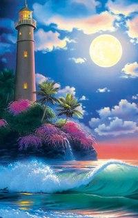 Пазлы 160 элементов «пейзаж. маяк на закате», Канц-Эксмо (Listoff, Unnika Land)