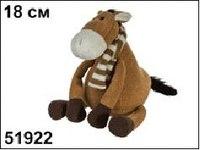 """Мягкая игрушка """"лошадка в шарфике"""", 18 см, Пуффи"""