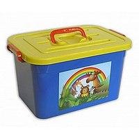 """Ящик для игрушек """"радуга"""", 15 л, Полимербыт"""
