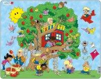 """Пазл """"дерево"""", 22 элемента, Larsen (игрушки)"""