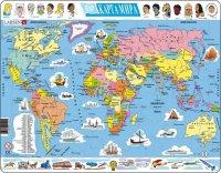 """Пазл """"карта мира - государства"""", 107 элементов, Larsen (игрушки)"""