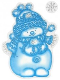 Снеговик. новогодние наклейки на окна, Карапуз