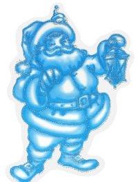 Санта клаус. новогодние наклейки на окна, Карапуз