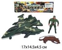 """Набор """"военный"""", солдат, самолет, собака, Shantou Gepai"""