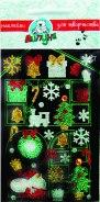 """Блестящие наклейки """"новогодние подарки"""", Липуня"""