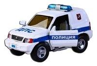 """Машина металлическая инерционная """"mitsubishi"""" полиция дпс, 1:43, Пламенный мотор"""