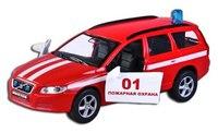 """Машина металлическая инерционная """"volvo v70"""" пожарная охрана, 1:43, Пламенный мотор"""
