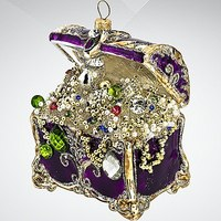 """Украшение коллекционное """"сундук с сокровищами"""", фиолетовое, Silverado"""