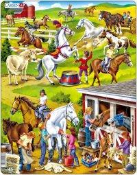 """Пазл """"лошади"""", 50 элементов, Larsen (игрушки)"""