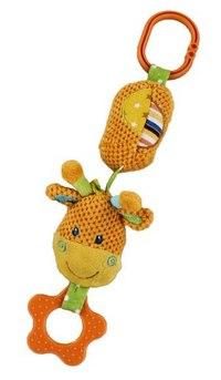 """Игрушка развивающая """"подвеска жирафик"""" с колокольчиком, Жирафики"""