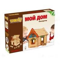 """Конструктор """"мой дом"""", 74 деревянных элемента, Вуди (Woody)"""