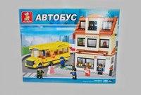 """Конструктор """"школа и школьный автобус"""", 496 деталей, SLUBAN"""