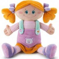 Мягкая кукла в платье с мишкой, 30 см, Trudi