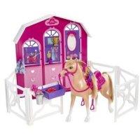 """Набор """"барби и сестры в сказке о пони"""" - конюшня и лошадь, Mattel (Маттел)"""