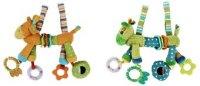 """Развивающая игрушка-подвеска """"веселый зоопарк"""" с погремушкой, зеркальцем и прорезывателем, Жирафики"""